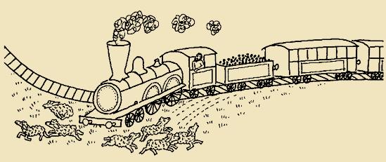 A vonat a sínen tud csak szabadon száguldani, a mezőn megreked
