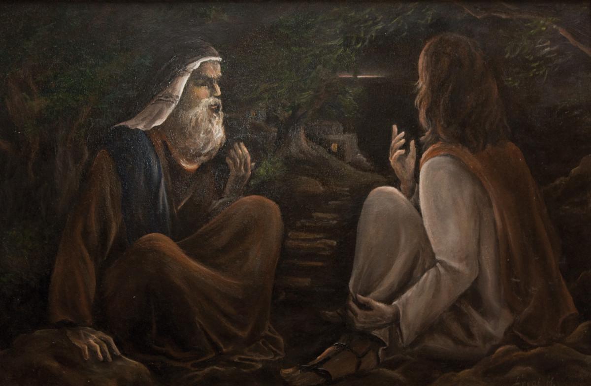 (kép - Árvai Márta: Jézus és Nikodémus,)