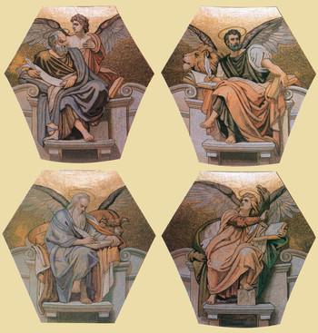 A négy evangélista (Máté, Márk, Lukács, János)