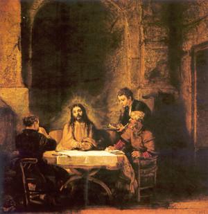 Krisztus az emmauszi tanítványokkal