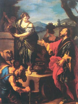 Rebeka és Eliézer találkozása a kútnál