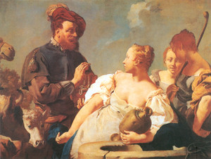 Eliézer és Rebeka találkozása a kútnál