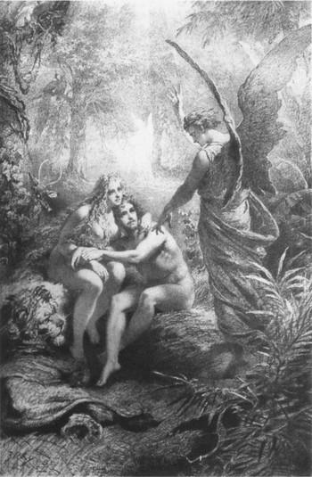 Illusztrációk Madács Az ember tragédiájához II., A paradicsomban