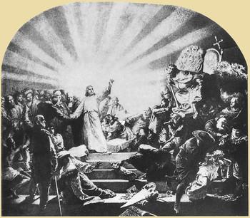 Krisztus a pápa előtt