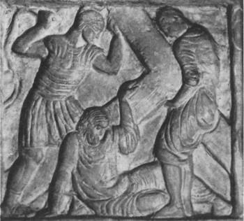 Krisztus lerogy a kereszt alatt