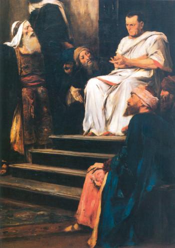 Krisztus Pilátus előtt (részlet)