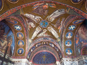 A négy evangélista mozaikon