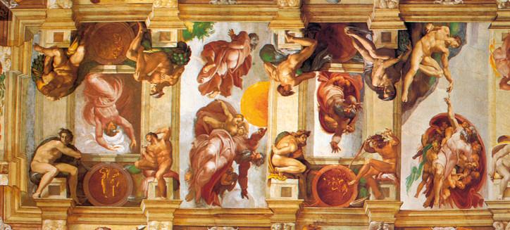 A Sixtus-kápolna mennyezetfreskója (részlet)