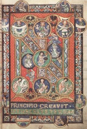 """IN"" iniciálé, belgiumi latin nyelvű Biblia"