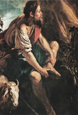 Mózes az égő csipkebokornál