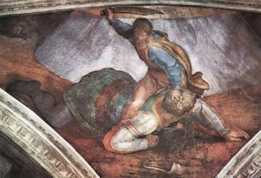 Dávid legyőzi Góliátot