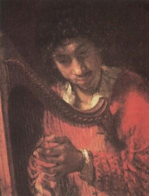 Dávid Saul előtt hárfázik