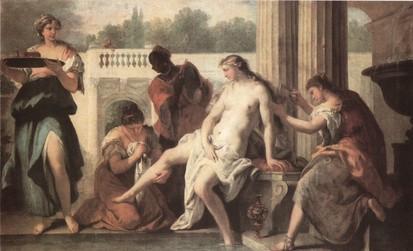 Bethsabé a fürdőben