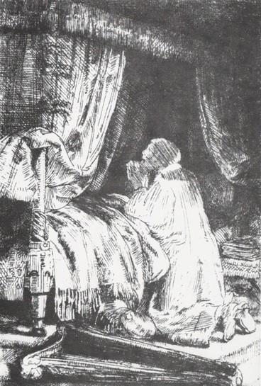 Dávid imádkozás közben
