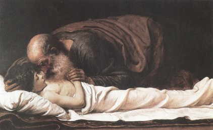 Elizeus feltámasztja a sunemita asszony fiát