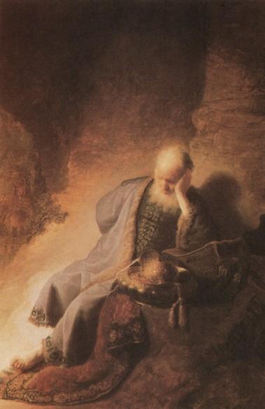 Jeremiás siratja Jeruzsálemet