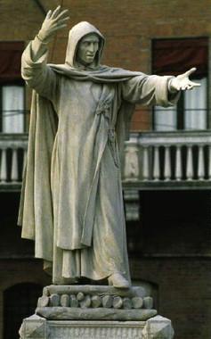 Savonarola szobra, Ferrarában