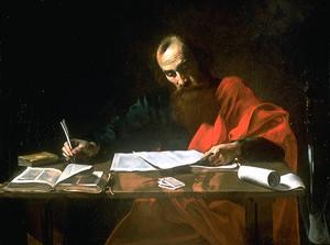 Pál apostol levélírás közben