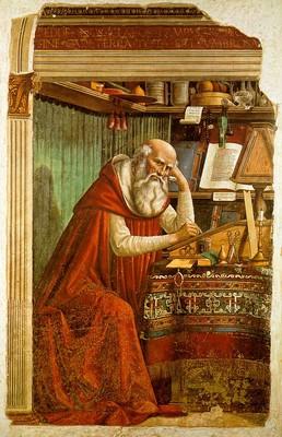 Az Írást tanulmányozó Jeromos