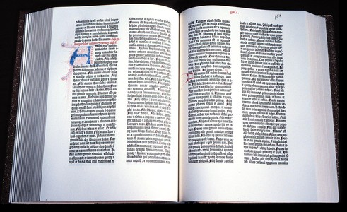 A híres 42 soros Gutenberg-Biblia