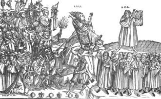 Luther és X. Leó pápa