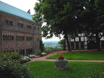A wartburgi vár udvara ma