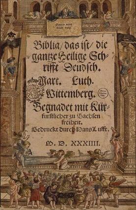 A Lutherfordítású teljes német Szentírás