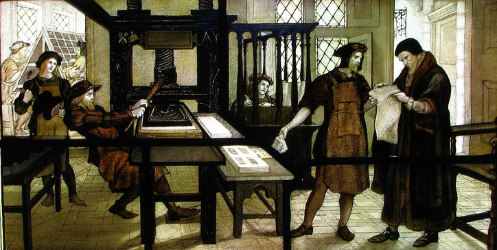 Tyndale az Újszövetség nyomtatása közben