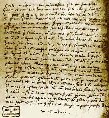 Tyndale levele a börtönből