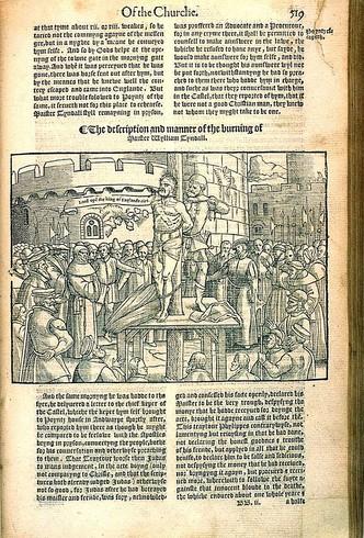 Tyndale kivégzése a várbörtön udvarán