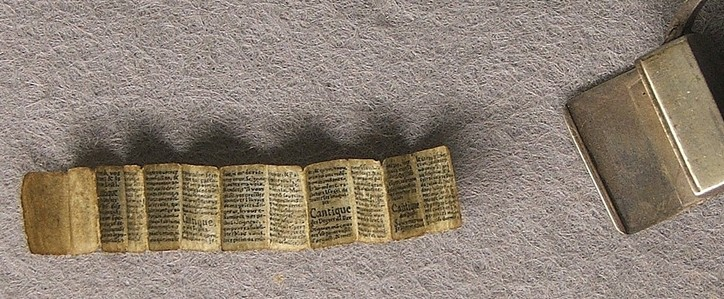 Valdens miniatűr Biblia-részlet