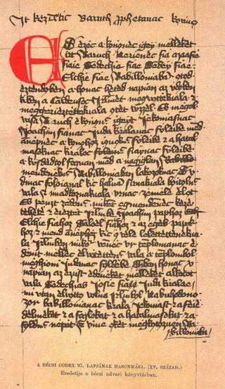 Huszita Biblia egy lapja
