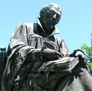 Károlyi Gáspár Bibliával és tollal